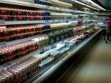 Fábrica de Guangzhou supermercado aberto Multidecks Leiteiro