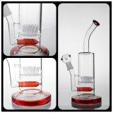 La glace de tabac Bong la pipe de /Water avec fonction de couleur de trois Amérique la meilleure la glace en verre de base qu'épaisse de pipe de fumage Bongs le joint 18mm