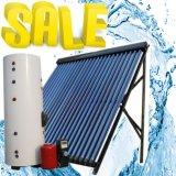 Sistema de aquecimento solar pressurizado elevado rachado do coletor solar do calefator de água