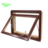 60mm White perfil da estrutura única janela UPVC de vidro para Projeto Social