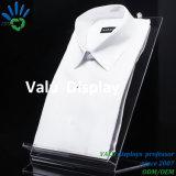 Del plexiglás de la inclinación estantes de acrílico claros del sostenedor del soporte de visualización de la camisa detrás