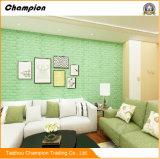 다채로운 PE 거품 벽지 3D 벽돌 벽 스티커 패턴, 벽돌 벽지 3D DIY 벽 스티커 PE 거품 벽 스티커