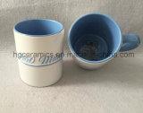 L'alta qualità ha impresso la tazza, tazza di ceramica impressa, tazza di rilievo, tazza del randello di gioco del calcio