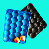 Umweltfreundliches pp. Plastiktellersegment der verschiedenen Wegwerffarben-für Frucht