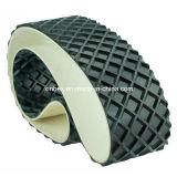 PVC Big Quadrel Pattern Convoyeur noir pour processus en bois