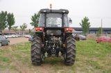 De grote Tractor met 4 wielen van het Landbouwbedrijf van de Macht 60HP 4WD met VoorLader voor Verkoop