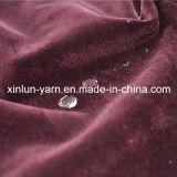 Tecido flocado impermeável de poliéster simples para sofá / estofamento / cortina