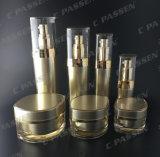 Fles van de Container van de Kruik van de Room van de luxe de Kosmetische Verpakkende Gouden Acryl (ppc-cps-062)