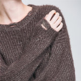 2018 new Fashion Ladies Round Neck Sweater Knitwear sweater Wholesale