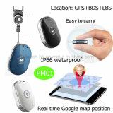 Mini/minuscule de GPS traqueur de SOS avec les méthodes et la Geo-Frontière de sécurité Pm01 de positionnement multiple