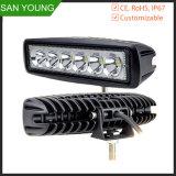 18W de la barra de luz LED de Trabajo Alquiler de carretilla SUV Ute ATV off road lámpara