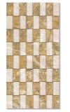 De bruine en Witte Tegels van de Muur van de Kleur Hexagon