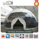 판매를 위한 5-30m 백색과 투명한 PVC 지오데식 돔 사건 천막