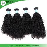 Unverarbeitetes hochwertiges indisches lockiges Häutchen intaktes Remy Haar