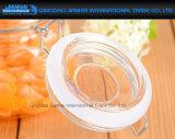 1L rimuovono la bottiglia di vetro del miele di figura quadrata con la protezione della clip