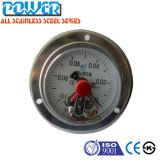 Chromeplated 고급장교 뒤 유형 연결과 정면 플랜지 저압 기압계를 가진 전기 압력 계기