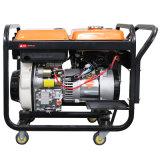 5kw Air-Cooled Generador Diesel con ruedas grandes