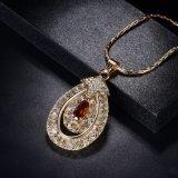 Jogo bonito superior de cristal de vidro luxuoso da jóia do rubi dos grânulos do cristal