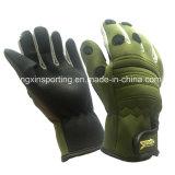 in azione, guanti impermeabili molli /Tackle (HX-G0070) di pesca del neoprene