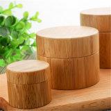 Type en plastique rond chocs cosmétiques en bambou en bois