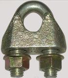 노란 아연에 의하여 도금되는 철사 밧줄 클립 DIN1142 가단성 강철 삭구