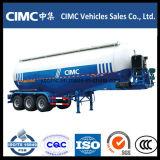 Cimc 3 반 차축 45m3 대량 시멘트 탱크 트레일러