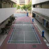 Прочная пластичная напольная поверхность спорта Badminton настила