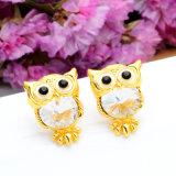 Cristal joyas de marca Owl Stud Earrings para mujeres