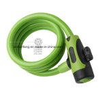 Het Intrekbare Slot van uitstekende kwaliteit van de Kabel van de Fiets Spiraalvormige (hlk-015)