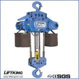 Élévateur à chaînes électrique à deux vitesses de Liftking 15t avec le chariot électrique (ECH 15-06D et ET-15D)