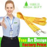 Sagola gialla decorativa di colore di prezzi di fabbrica o del collo del poliestere di abitudine