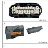 Автомобильный разъем Pin электрических изготовлений мультипольный 24pin ECU
