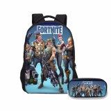 École de garçons Fortnite Sacs à dos Fashion 2 pcs Set bataille Royale imprime Loptop Sacs épaule avec un crayon cas Kids Bookbag