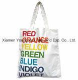 Выдвиженческий изготовленный на заказ полный цвет напечатал 100% отбеленный белый органический мешок хлопка