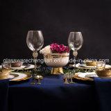 Stemware elegante copo de vinho com aro de ouro (B-WG070)