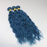 ブラジルの毛の青く自然な波の束のバージンの毛の人間の毛髪のミンクの毛の拡張