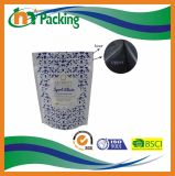 Custonは防水薄板にされたプラスチックを立てるジッパーが付いている袋を印刷した