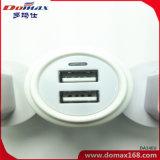 Carregador do adaptador da parede do USB do dispositivo 2 do telefone móvel para o iPhone 5