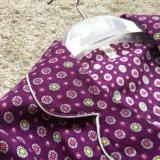 Vestito lungo dai pigiami dei manicotti del Eyeshade del vestito degli indumenti da notte del cotone di Emerizing di alta qualità