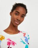 Mulheres Suéter Casual Pulôver com impressões coloridas