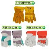 Перчатки коровы перчаток техники безопасности на производстве Split кожаный работая перчатки (SP0205)