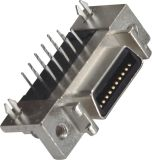 1.27mm CEN-Tipo conetor fêmea do SCSI de 180 MERGULHOS