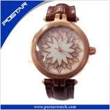 Relógio de senhoras do relógio de forma do relógio de quartzo do aço Psd-2310 inoxidável