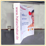 Tissu incurvée 8ft Pop Up Display Stand/Trade Show Booth