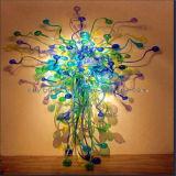De veelkleurige Geblazen Verlichting van de Kroonluchter van het Glas voor de Decoratie van de Muur