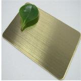 Espesor aplicado con brocha brillante del precio 0.8m m 1.0m m 1.2m m de la hoja del final del color de acero cobreado inoxidable de Foshan 304