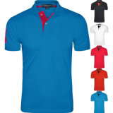 Het korte van het Katoenen van de Manier van de Koker Overhemd Van uitstekende kwaliteit Polo van de Mens