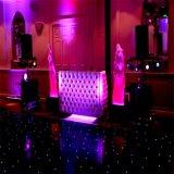 Azulejo negro de la danza del suelo de baile LED para la decoración de la boda