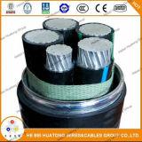 Clx Typ-zusammengesetzte Energie Mc (XHHW-2), 600V und Seilzug, Aluminiumhülle, multi kupferne Leiter