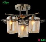 Alta calidad techo de cristal de oro iluminación de la lámpara